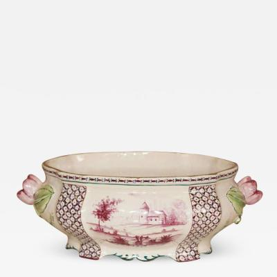 18th century Porcelain Tureen with Clamecy Markings