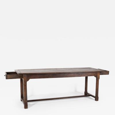 18thC French Provincial Elm Farmhouse Table