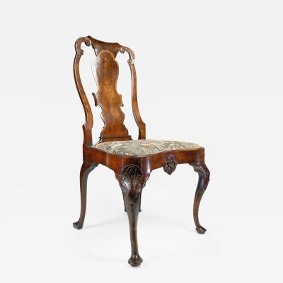 18thc English Mahogany Carved Side Chair