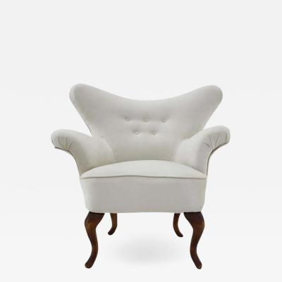 1900s Rare Antique Curved Armchair