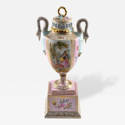 1900s Royal Vienna Porcelain Covered Urn