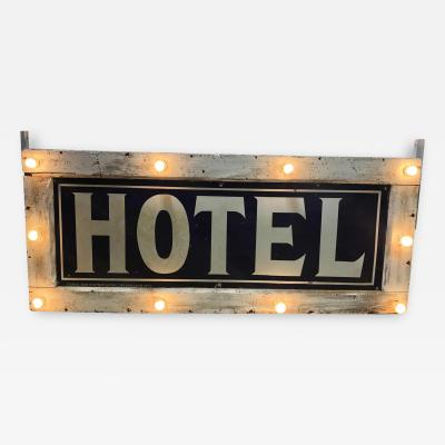 1905 Light Up Double Sided Hotel Sign