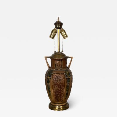 1910s Arts Crafts Earthenware Lamp