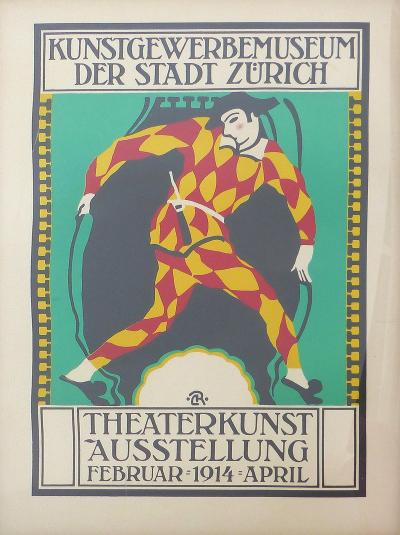 1914 Zurich Theater Poster For Sale