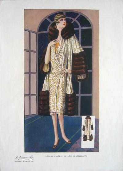 1920 Vintage Paris La Femme Chic 187 Print