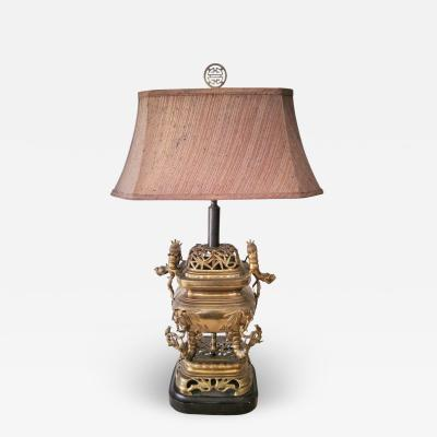 1920s ART DECO CHINOISERIE TABLE LAMP