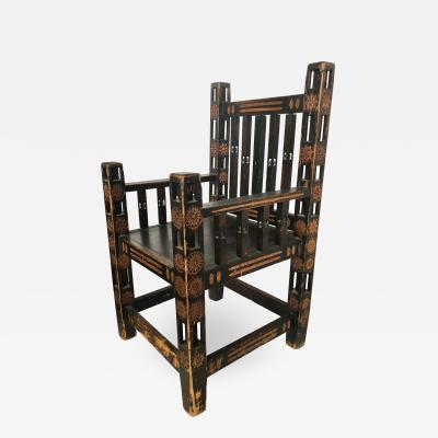 1920s Hand Made Wood Chair