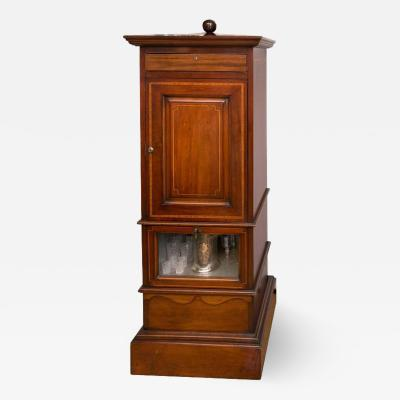 1920s Mahogany Dry Bar Complete with Humidor and Game Compendium