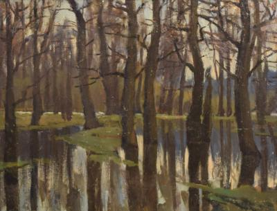 1920s Oil Painting by A Steinmetz Evenings