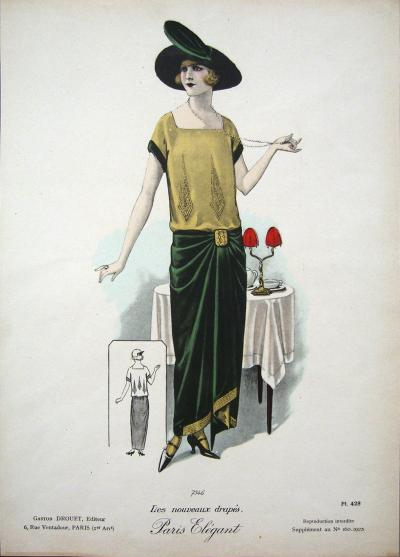 1920s Vintage Paris Elegant 7546 Print