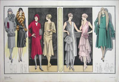 1920s Vintage Paris La Femme Chic 215 Print