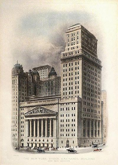 1922 New York Stock Exchange Building Print