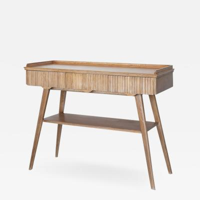 1930S ITALIAN CORRUGATED WOOD CONSOLE