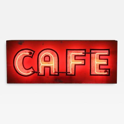 1930S NEON SIGN CAFE