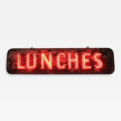 1930S NEON SIGN LUNCHES