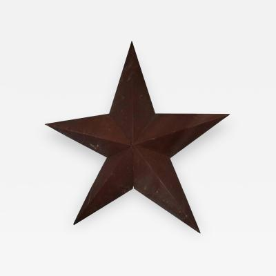 1930s American Folk Art Metal Star Sculpture
