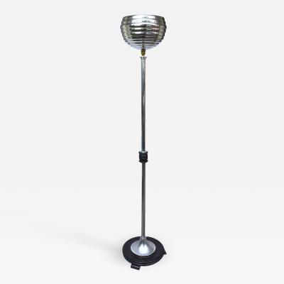 1930s Art Deco Chrome Bee Hive Floor Lamp