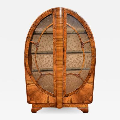 1930s Art Deco Display Cabinet Vitrine