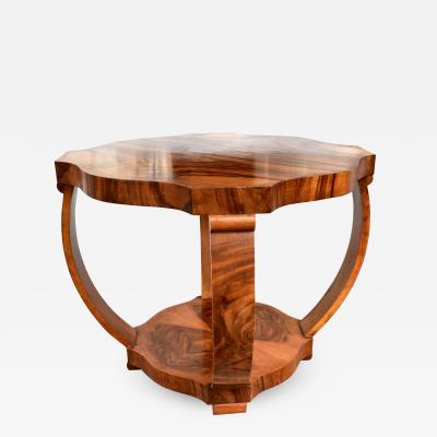 1930s Art Deco Walnut Occasional Table