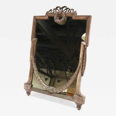 1930s French Silver Plated Vanity Mirror