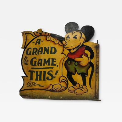 1930s Hand Painted Carnival Panel Pie Mickey
