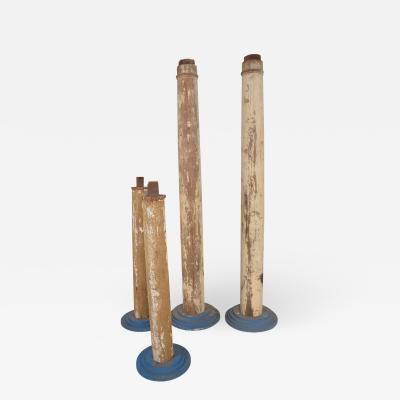 1930s Modern Vintage Salvaged Architectural Wood Columns set of four