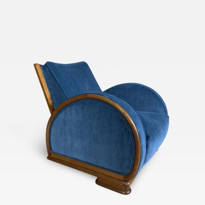 1930s Swedish Elmwood Art Deco Lounge Chair