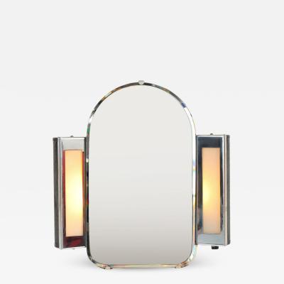 1930s US Art Deco illuminated dressing table mirror