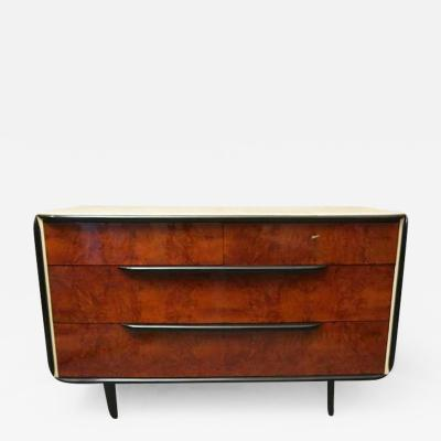 1930s Walnut Italian Art Deco Chest of Drawers
