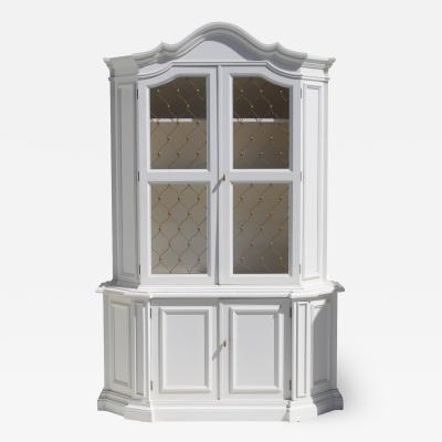 1940 s Hollywood Regency China Cabinet by Medallion Limited of Miami