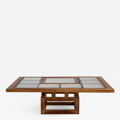 1940S FRENCH OAK COFFEE TABLE