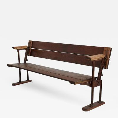 1940S TRAIN STATION BENCH