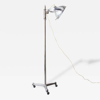 1940s Adjustable Medical Floor Lamp