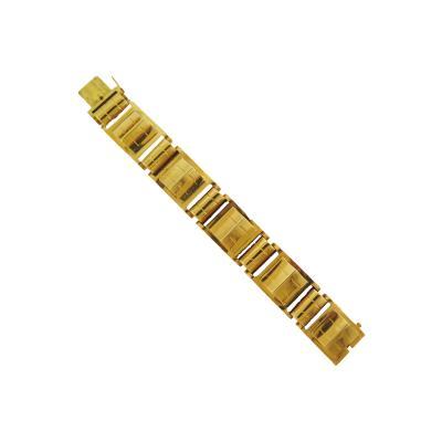 1940s Architectural Gold Link Bracelet