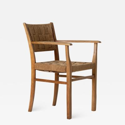1940s Beech and Rope Armchair