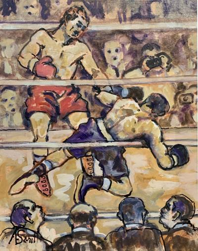 1940s Boxing Painting by Al Smith O B USA