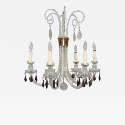 1940s Cut Glass French Chandelier