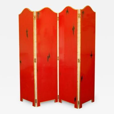 1940s French Lacquered Screen