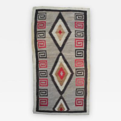 1940s Modern Native American Navajo Hand woven Wool Rug