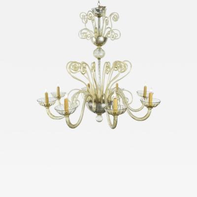 1940s Murano Glass Chandelier