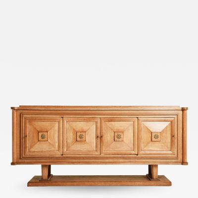 1940s Oak and Bronze Sideboard