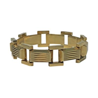 1940s Retro 14K Rose Gold Bracelet