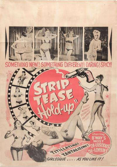 1940s Striptease HOLD UP burlesque poster