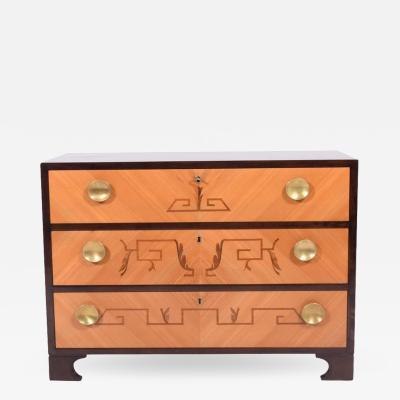 1940s Swedish Intarsia Chest of Drawers