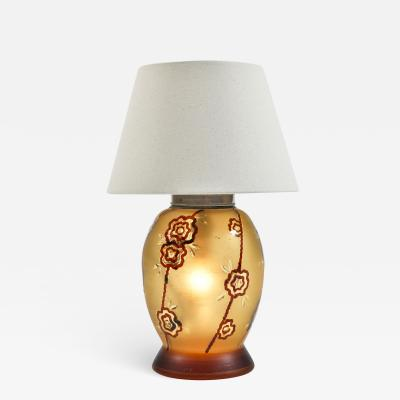 1950 s Italian lamp with lit glass base
