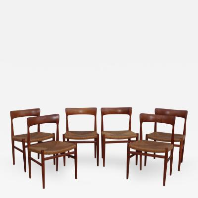 1950s Danish Teak Sculptural Dining Chairs