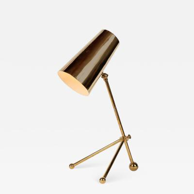 1950s Finnish Brass Table Lamp