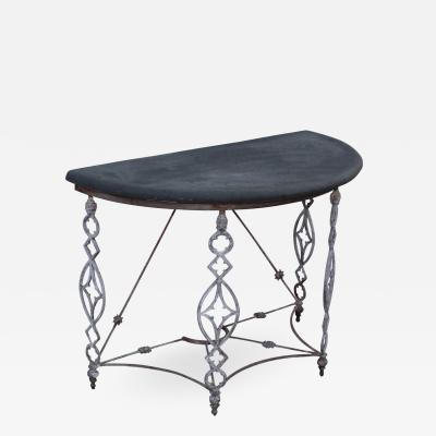 1950s French Outdoor Demi Lune Console