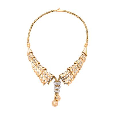 1950s Gold and Diamond Collar Necklace