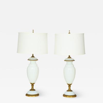 1950s Italian Brass Ang Glass Table Lamps